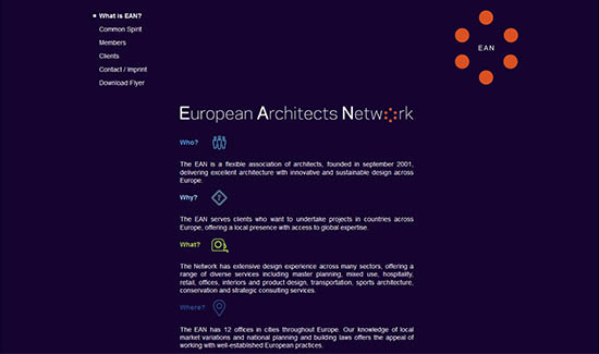 Webpräsenz European Architects Network